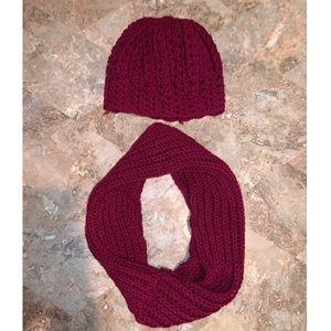 Knit scarf & beanie 🤍